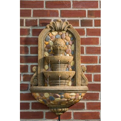 Alfresco Home Sevilla Outdoor Resin Rock Wall Fountain
