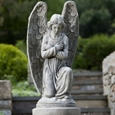 Alfresco Home Kneeling Angel Statue