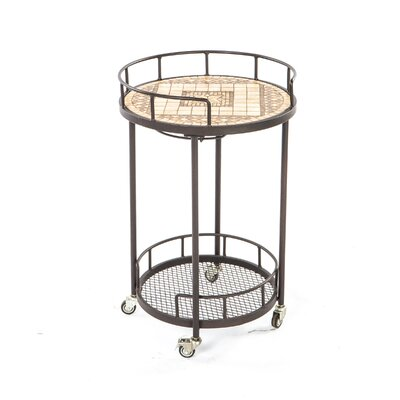 Basilica Mosaic Outdoor Serving Cart