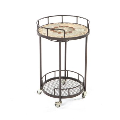 Alfresco Home Notre Dame Mosaic Outdoor Serving Cart