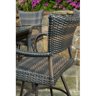 Alfresco Home Tutto All Weather Wicker 5 Piece Bar Height Dining Set