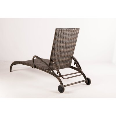Tutto all weather wicker double chaise lounge wayfair for All weather chaise lounge