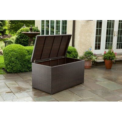 Alfresco Home All Weather Wicker Outdoor Storage Box