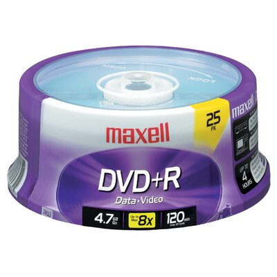 Maxell DVD+R 25 Pack Spindle 4.7 GB