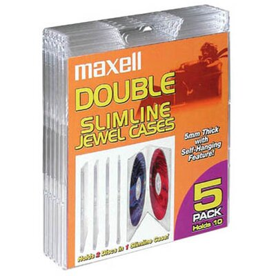 Maxell Double Slimline Jewel Case