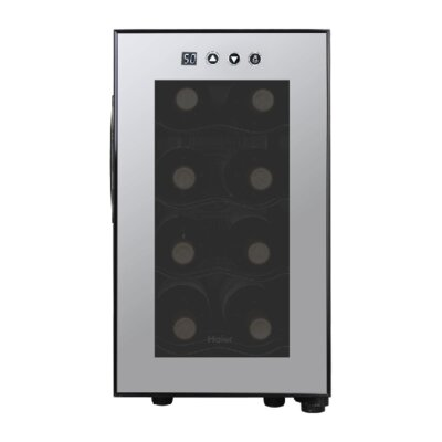 Haier 8 Bottles Wine Cellar with Electronic Controls in Black