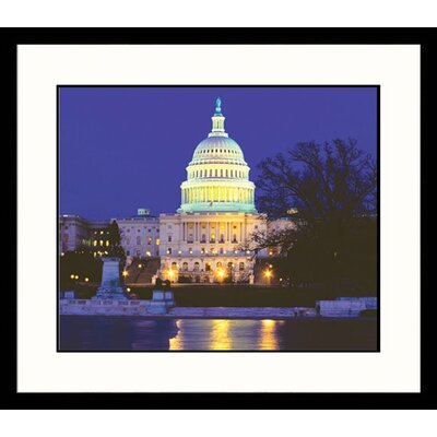 Washington Night Framed Photograph