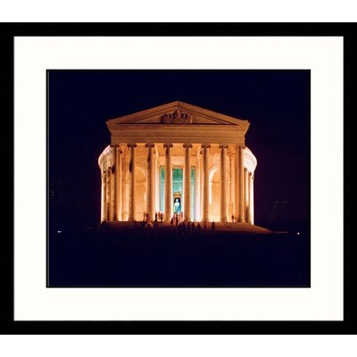Great American Picture Jefferson Memorial at Night Framed Photograph
