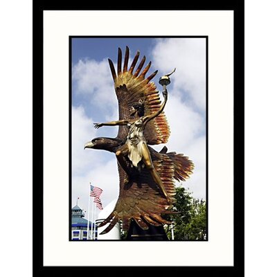 Great American Picture Mother of the Spirit Fire Sculpture, California Framed Photograph - Walter Bibikow