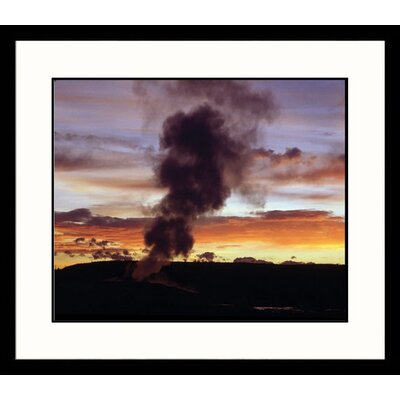 Great American Picture Old Faithful, Night Framed Photograph