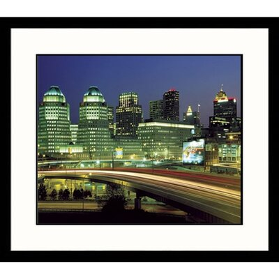Great American Picture Cincinnati Sky Dusk Framed Photograph - Adam Jones