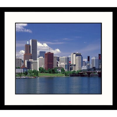 Great American Picture Portland Skyline Framed Photograph - Adam Jones