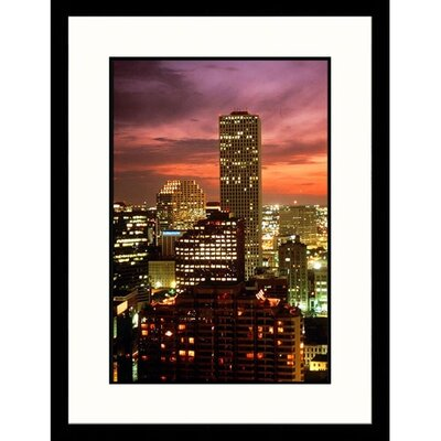 Great American Picture Skyline Sunset of New Orleans, Louisiana Framed Photograph