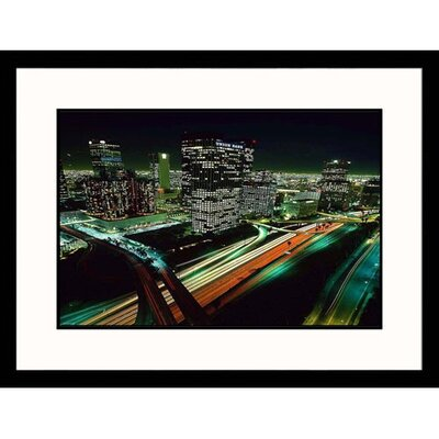 Great American Picture Los Angeles Skyline at Night Framed Photograph -  Josh Mitchell