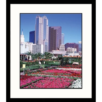 Great American Picture Farmers Market Skyline in Dallas Texas Framed Photograph  - Walter Bibikow