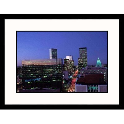 Great American Picture Skyline at Night in Denver Framed Photograph - Sally Brown