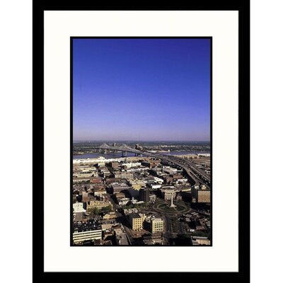 Great American Picture Aerial View of New Orleans, Louisiana Framed Photograph - John Coletti