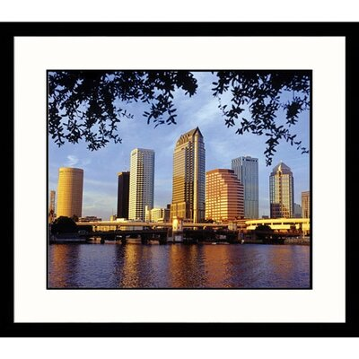 Great American Picture Tampa Skyline Framed Photograph - Wendell Metzen
