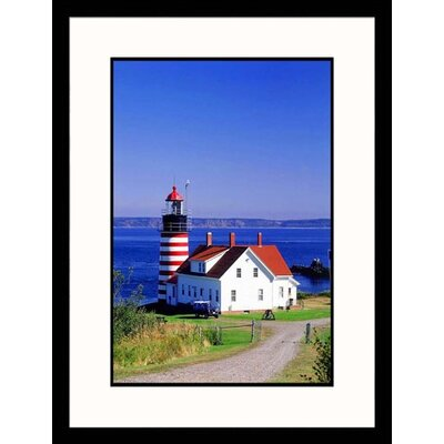 Quoddy Head Lighthouse, Maine Framed Photograph - Walter Bibikow