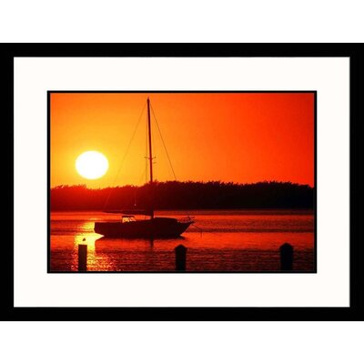 Sunset and Sailboat Framed Photograph - Scott Smith