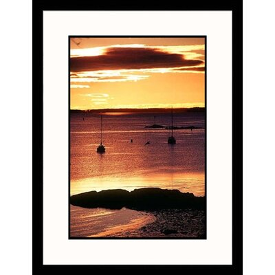 Great American Picture Sunset Over Harbor Framed Photograph - Kindra Clineff