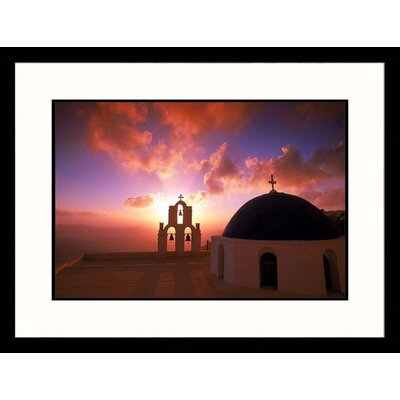 Seascapes 'Church Sunset' by Walter Bibikow Framed Photographic Print