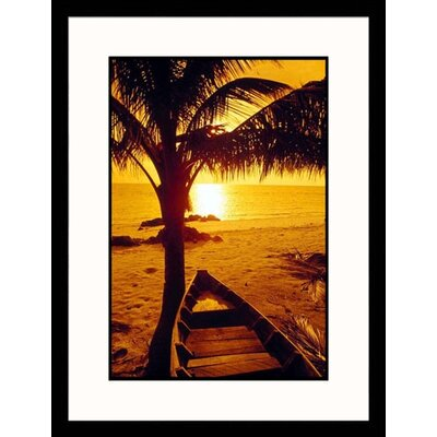 Seascapes 'Fishing Boat Under Palm Tree' by Kevin Law Framed Photographic Print
