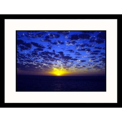 Great American Picture Sunset at Sea Framed Photograph