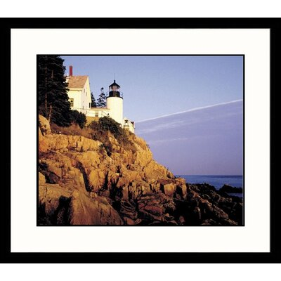 Great American Picture Bass Harbor Light Framed Photograph