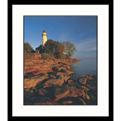 Pointe Aux Barques Lighthouse, Michigan Framed Photograph - Adam Jones