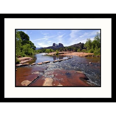 Great American Picture Landscapes 'Cathdral Rock, Red Rock Crossing, Sedona' by Pat Canova Framed Photographic Print