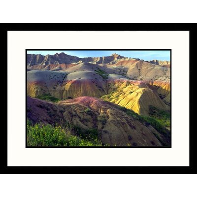 Great American Picture Eroding Terrain Badlands - New Mexico, South Dakota ll Framed Photograph - Craig J Brown