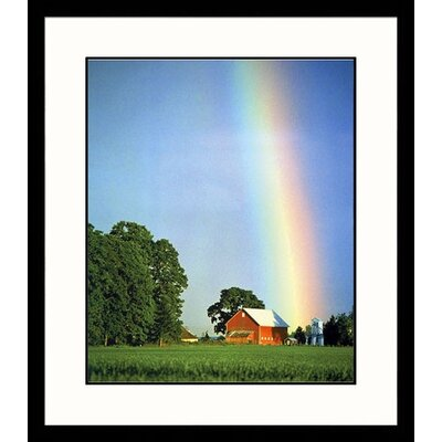 Great American Picture Rainbow Farm Framed Photograph - Donald Higgs