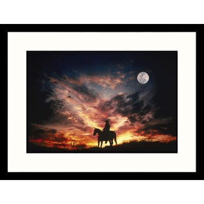 Great American Picture Landscapes 'Cowboy and Moon, Arizona' by Mick Roessler Framed Photographic Print