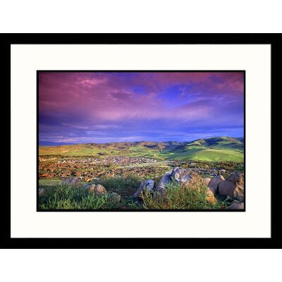 Great American Picture Landscape and Cloudy Sky, Irvine, California Framed Photograph - Eric Figge