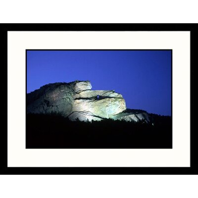Great American Picture Carving Crazy Horse, South Dakota Framed Photograph - Erwin Bud Nielsen