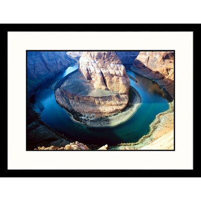 Great American Picture Closeup Horseshoe Bend Colorado River, Arizona Framed Photograph - James Denk