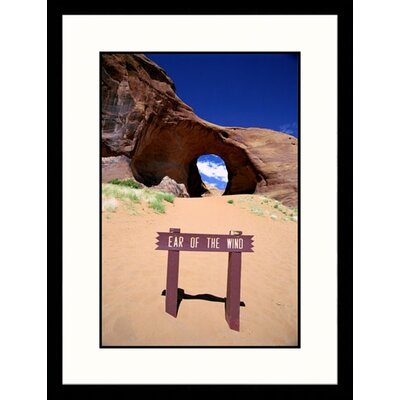Great American Picture Arizona, Monument Valley, Ear of the Wind Framed Photograph - James Denk