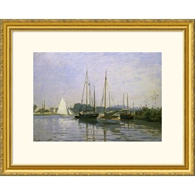 Great American Picture Boats: Regatta at Argenteuil c. 1872-73 Gold Framed Print - Claude Monet