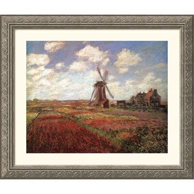 Great American Picture Champs de Tulip Silver Framed Print - Claude Monet