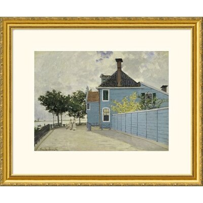 Great American Picture La Maison Weue, Zaandau Gold Framed Print - Claude Monet