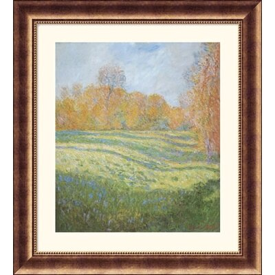 Great American Picture Meadow at Giverny Bronze Framed Print - Claude Monet