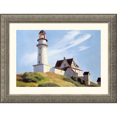 Lighthouse at Two Lights Silver Framed Print - Edward Hopper