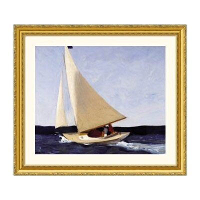 Great American Picture Sailing Gold Framed Print - Edward Hopper
