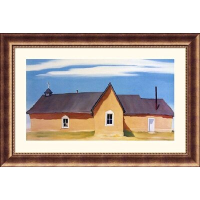 Cebolla Church Bronze Framed Print - Georgia O'Keeffe
