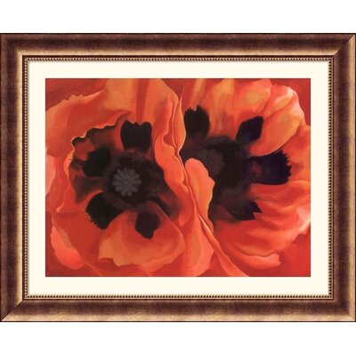 Oriental Poppies, 1928 Bronze Framed Print - Georgia O'Keeffe