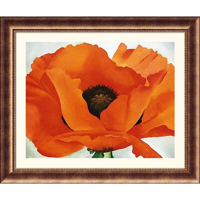 Red Poppy Bronze Framed Print - Georgia O'Keeffe