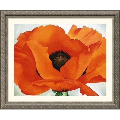 Red Poppy Silver Framed Print - Georgia O'Keeffe