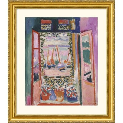 Great American Picture Open Window, Collioure, 1905 Gold Framed Print - Henri Matisse