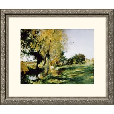 At Broadway Silver Framed Print - John Singer Sargent